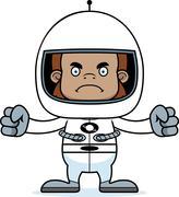 Stock Illustration of Cartoon Angry Astronaut Sasquatch