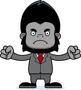 Cartoon Angry Businessperson Gorilla Stock Illustration