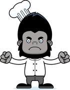 Stock Illustration of Cartoon Angry Chef Gorilla