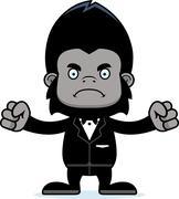 Stock Illustration of Cartoon Angry Groom Gorilla