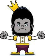 Stock Illustration of Cartoon Angry Prince Gorilla