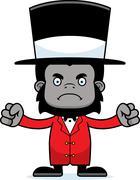 Cartoon Angry Ringmaster Gorilla Piirros