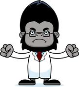 Stock Illustration of Cartoon Angry Scientist Gorilla