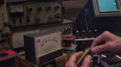 Stock Video Footage of Hobby, smaller transistors replace tubes size matters