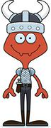 Cartoon Smiling Viking Ant Stock Illustration