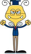 Cartoon Angry Teacher Bee Stock Illustration