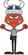 Cartoon Angry Viking Ant Stock Illustration