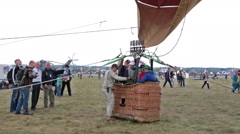 Preparing the balloon for flight Stock Footage