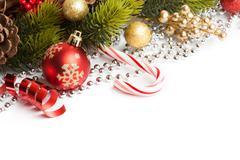 Christmas border with ornament Stock Photos