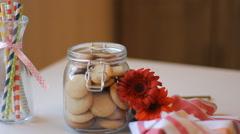 Cookies tahini Stock Footage