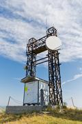communications at high altitude - stock photo