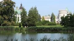 Renaissance Krasiczyn Castle, Poland Stock Footage