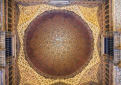 Stock Photo of Dome in Alcazar palace. view from below