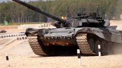 Tank Biathlon World Championships in Moscow, Russia Stock Footage