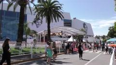 Palais festivals Stock Footage