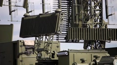The rotating military antenna (radar) Stock Footage
