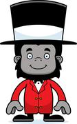 Cartoon Smiling Ringmaster Gorilla Stock Illustration