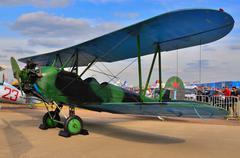 MOSCOW, RUSSIA - AUG 2015: general-purpose Soviet biplane Po-2 U - stock photo