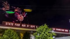 Fireworks at the MN State Fair Stock Footage
