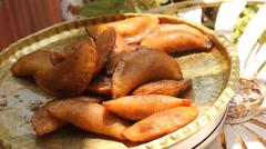 Druze food katayef Stock Footage