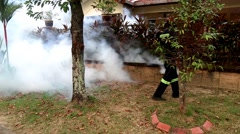 Insecticides fogging activities on Aedes mosquitoes in Malaysia Stock Footage
