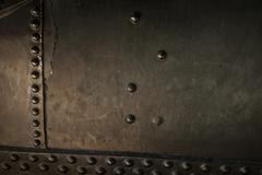 Metal background of old steam locomotive Stock Photos