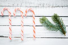 Sweets and conifer Stock Photos