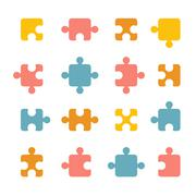 Puzzle set Stock Illustration