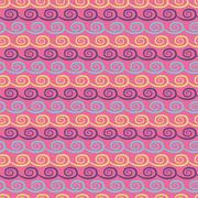 Colorful crazy  seamless pattern - stock illustration