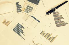 graphs and charts - stock photo