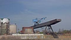 Driving along Duisburg Hamborn Stock Footage