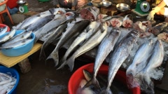 Evening fishmarket in Vungtau Stock Footage