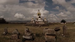 A small Buddhism temple Erdene Zuu Buddhist monastery Stock Footage