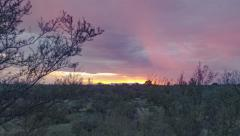 Stock Video Footage of 4K UHD pano colorful red sunset over Tucson time lapse