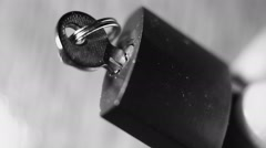 Small padlock and keys close up - stock footage