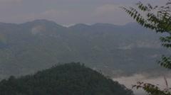 View of mountain range at sunmoon lake Stock Footage