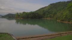 Quiet area of sunmoon lake Stock Footage