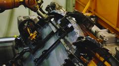Robot cuts metal Stock Footage
