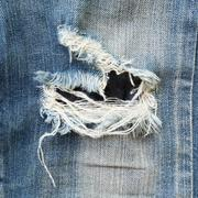 Denim jeans blue old torn of fashion jeans design Stock Photos