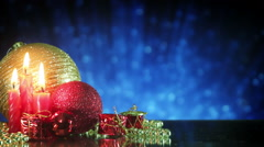 Christmas tree decorations and glitters loopable Stock Footage