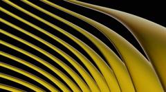 Yellow glowing strip Stock Footage