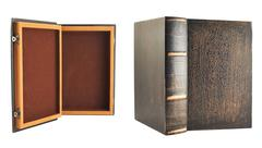 Secret book shaped casket Stock Photos