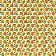 creative retro look flower pattern background vector - stock illustration