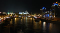 Moscow Downtown at night - stock footage