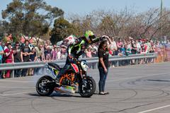 Motorcycle Stunt Rider - stock photo