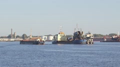 Working dredger - stock footage
