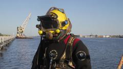 Commercial Diver Stock Footage