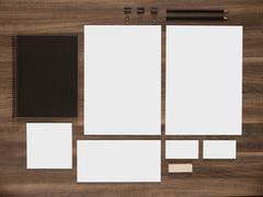 Branding mockup collection for corporate identity presentation Stock Photos