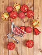 Christmas shopping composition Kuvituskuvat