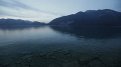 Wolfgangsee, Austria on a Summer Evening Stock Footage